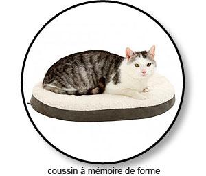 Coussin à mémoire de forme pour l'arthrose du chat