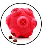 Balle à croquettes anti-glouton pour chien