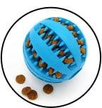 jouet alimentaire balle en caoutchouc distributrice de croquettes pour le chien