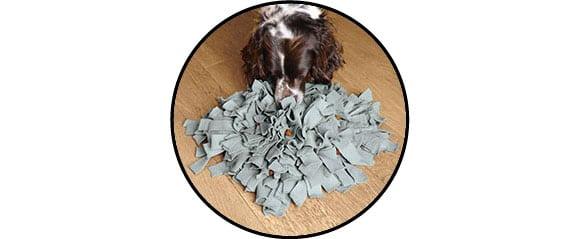 jouet tapis de fouille ou snuffle mat pour le chien et chiot