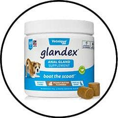 Produit Glandex pour vidanger les glandes anales du chien