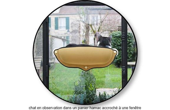 Panier lit hamac de fenêtre pour chat d'appartement