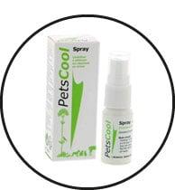 Produit Petscool en spray pour chat qui fait pipi partout