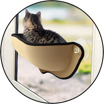 Panier lit hamac de fenêtre pour chat